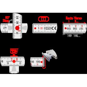 90° Stopp • EG III • CE • Recto Verso • Rostfreie Nieten • Metallende